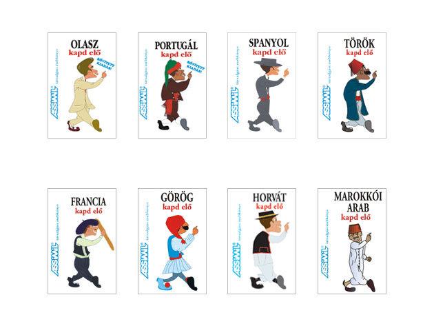 Kapd elő Földközi-tenger csomag/Francia, Olasz, Spanyol, Portugál, Görög, Török, Horvát, M.arab zsebkönyvek
