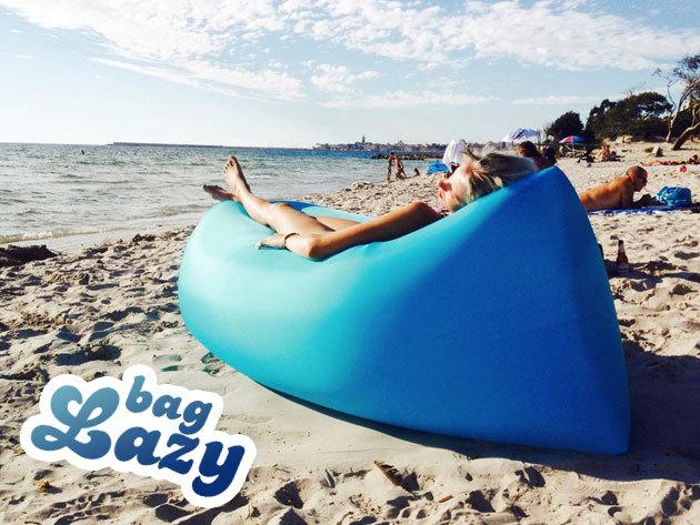 Felfújható Lazy Bag, az idei nyár slágere! Könnyű használat, kényelmes akár piknikhez, strandra, tengerpartra - vízálló, így medencébe vagy nyílt vízre is rakhatod