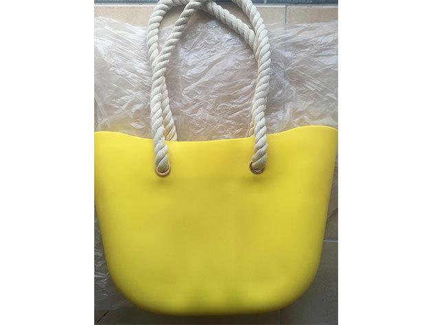 MyBag női szilikon táska Citromsárga színű