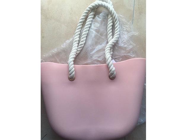 MyBag női szilikon táska Púder színű