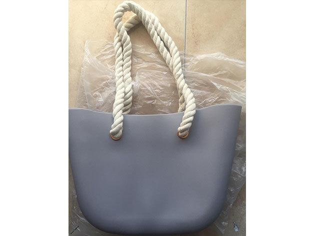 MyBag női szilikon táska sötétszürke színű