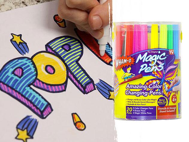 Színváltó Magic Pens varázsfilc készlet (20 db-os) ajándék festékszóró kiegészítővel