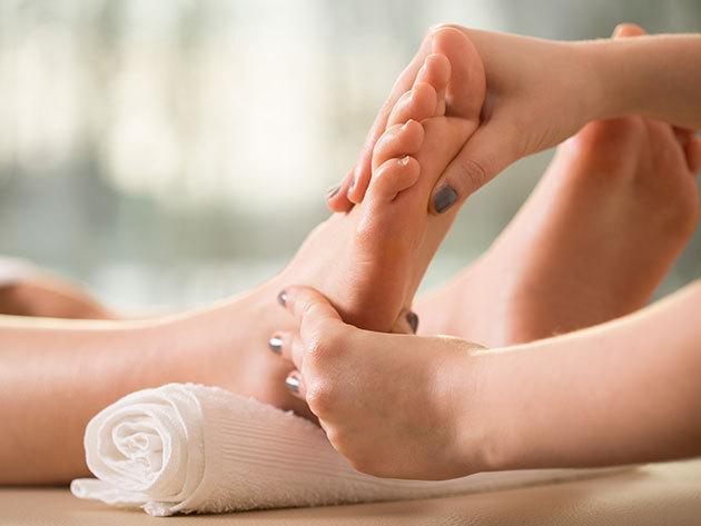 Magzatkori stresszoldás a lábfejen húzódó meridiánvonalak érintésével, 1 órás kezelés a III. kerületben, a Lelki-testi Harmóniában