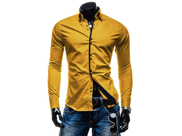 Seraph Lounge Selection - 24 Carat Gold - Férfi ing - Elegáns, slim fit - M