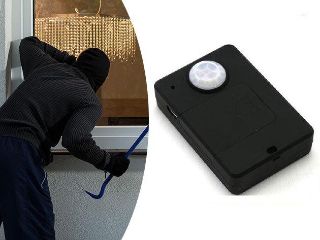 Mini mozgásérzékelős GSM riasztó (kártya független vezeték nélküli készülék) - Felhív, ha mozgást érzékel otthonodban  - Tudd biztonságban értékeidet!