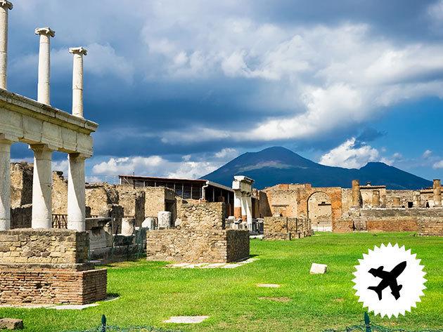 Nápoly, utazás repülővel - szervezett utazás 4 nap/3 éj szállással, reggelivel, idegenvezetéssel, fakultatív programok: Capri, Amalfi-part, Pompei, Vezúv / fő (a repjegy külön fizetendő)