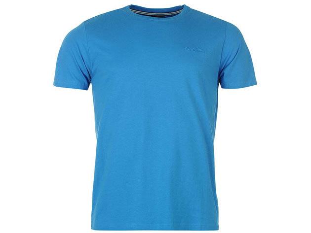 Pierre Cardin Plain T shirt Mens Malibu Kék - L