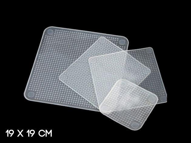 Praktikus, nyújtható szilikon ételfedő (méret: 19 x 19 cm)