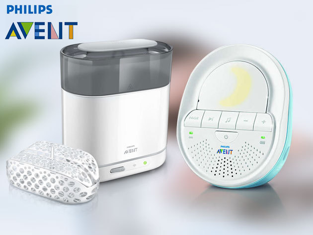 Philips AVENT bébiőrző 505 Dect (nyaraláshoz is) és Philips AVENT elektromos sterilizáló 4 in 1 készülék