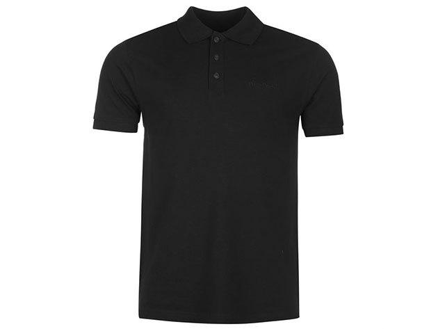 Pierre Cardin Plain Polo Shirt Mens férfi galléros póló black - S