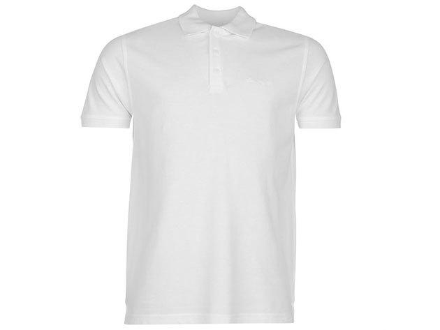 Pierre Cardin Plain Polo Shirt Mens férfi galléros póló white - S