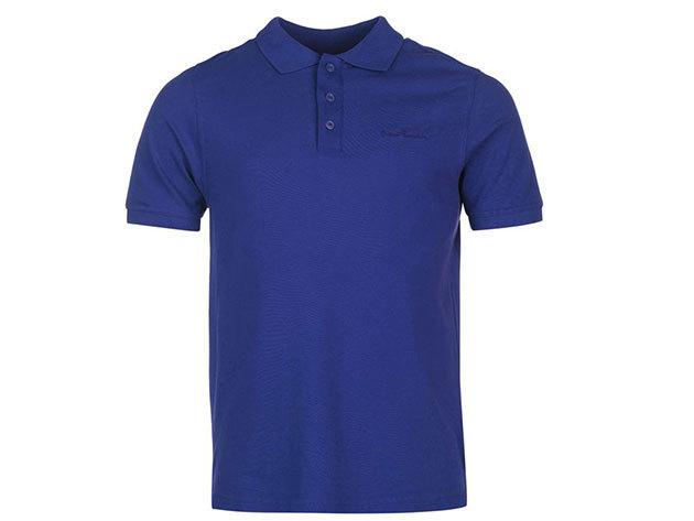 Pierre Cardin Plain Polo Shirt Mens férfi galléros póló royal blue - S
