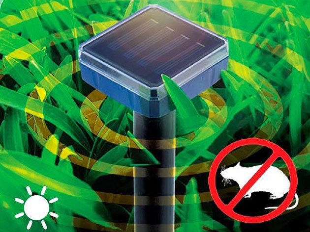 Eco Solem napelemes egér-, patkány és vakondriasztó kb. 30 méteres hatósugárral / Tartsd távol a kellemetlen rágcsálókat!