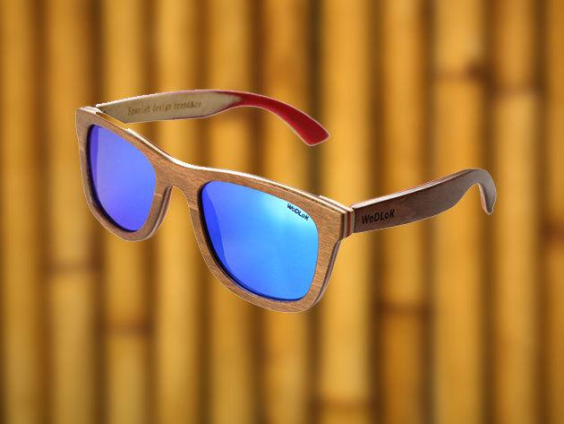 Wodlok Willow bambusz keretes napszemüvegek polarizált, színezett lencsével - környezettudatos divat