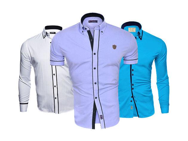 Slim fit SERAPH Leon ing szettek Olaszországból (2 db/csomag) - divatos, karcsúsított, hosszú és rövid ujjú változat, S-XXL méretben