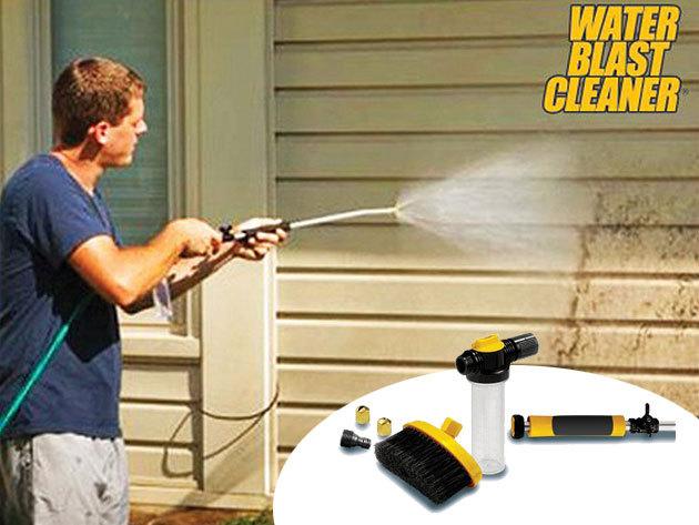 Nagynyomású vízágyús tisztító pisztoly különböző fejekkel, kefével, szappantartállyal - a terasz, az autó, a medence...stb. lemosásához