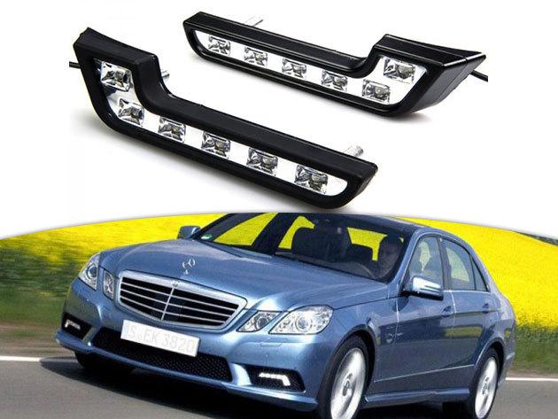 Autós nappali fény (1 pár) - fehér LED lámpák 6 égővel / energiatakarékos, biztonságos, 500-700 Lumen fényerővel