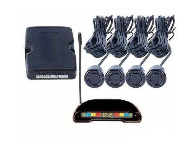 Vezeték nélküli tolatóradar LCD kijelzővel és 4 érzékelővel