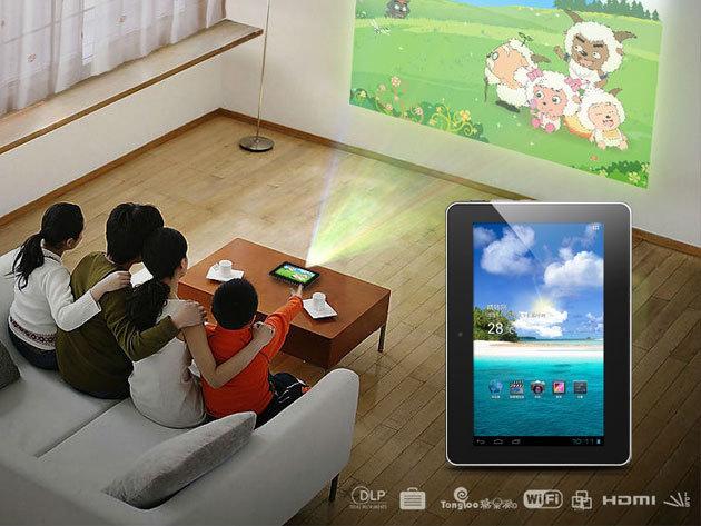 SmartQ U7, projektor és táblagép, 2az1-ben, 1 év garanciával - vetítsd a falra a filmeket és használd üzleti célokra is!
