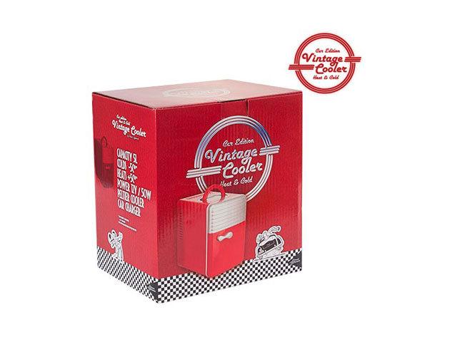 Vintage Retró 5 literes Hűtőszekrény (piros színben)