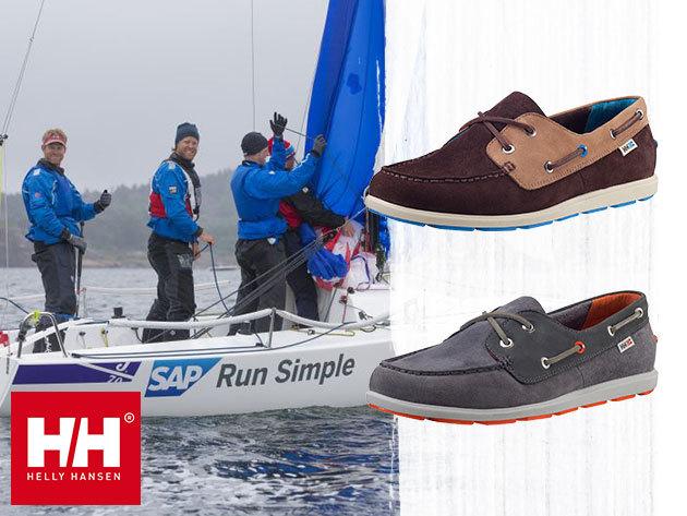 Helly Hansen DANFORTH 2 férfi cipő vitorlás dizájnnal, 42 méretben, cserélhető EVA talpbetéttel