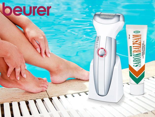 Beurer MPE 50 bőrkeményedés-eltávolító + Bánó féle Doktor Sarokbalzsam (50g) az ápolt lábakért