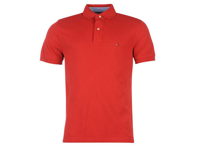 Tommy Hilfiger New Polo Shirt - apple red - L