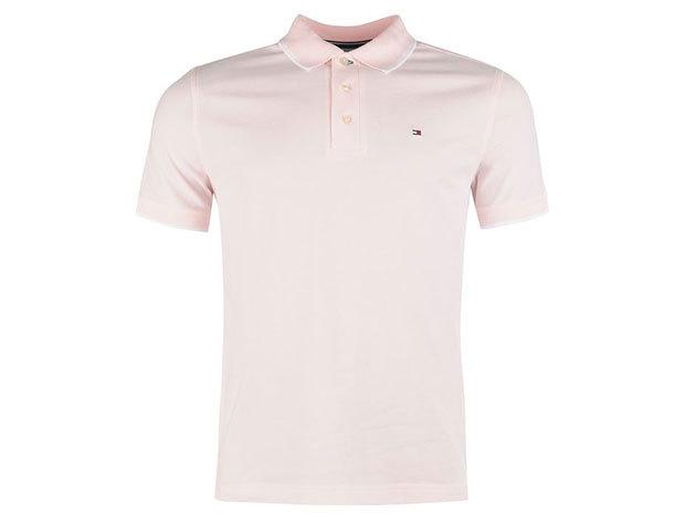 Tommy Hilfiger férfi galléros póló - pink - S