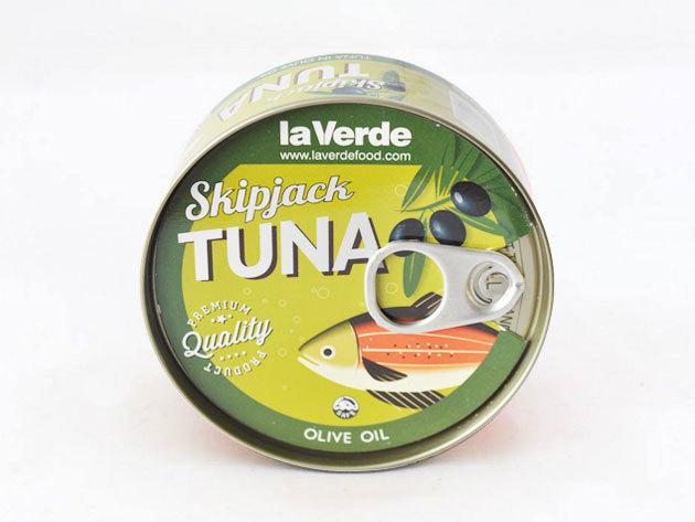 4 db la Verde Skipjack tonhal olivás lében (Csíkoshasú tonhal törzs)