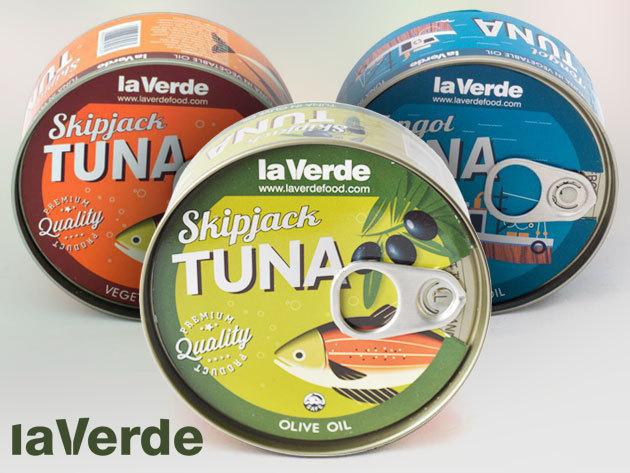 La Verde tonhaltörzs konzervek - növényi olajban,  sós vízben, és MÁR OLIVÁSAN IS  (170 gramm/db) - az  ízletes, egészséges fogásokhoz