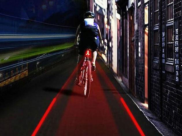 Kerékpár világítás - LED-es küllő lámpa és lézeres biztonsági LED lámpa / láthatóság és dizájn egyben
