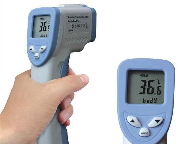 Infravörös hőmérő! Nagyon pontos, érintésmentes hőmérő, mely testen és tárgyakon egyaránt használható