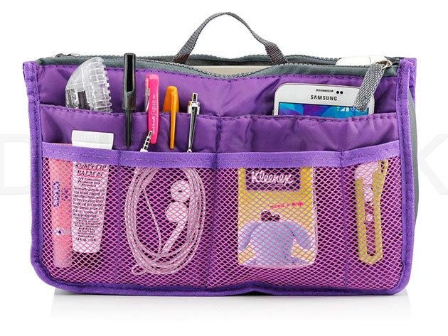 Táskarendező választható színben, 29x9x17cm méretben, sok rekesszel - Vége a káosznak, átlátható lesz a táskád!