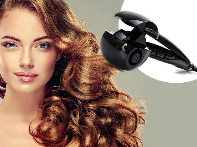 Elektromos hajgöndörítő rövid és hosszú hajhoz - 3 göndörségi fokozat, kerámia bevonat és hőfokszabályozó