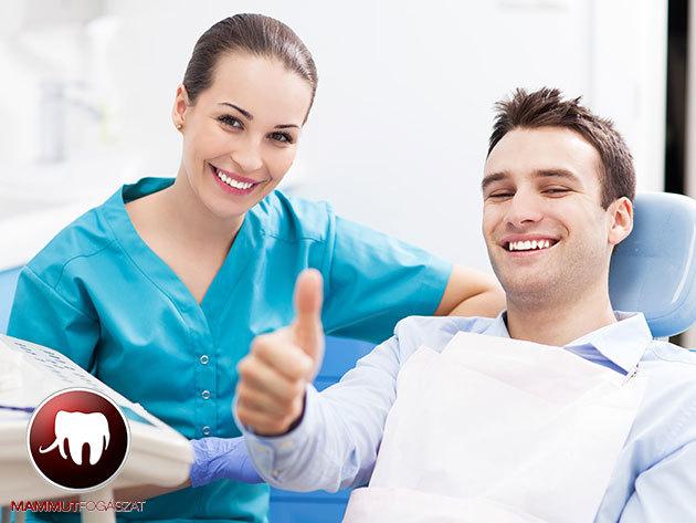Fogkőeltávolítás és polírozás az egészséges fogakért - a II. kerületi Mammut Fogászat rendelőjében