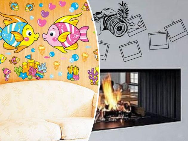 Óriás falmatricák a gyerekszobába, a nappaliba és a hálóba! Dekoráld kreatívan az otthonod falait!