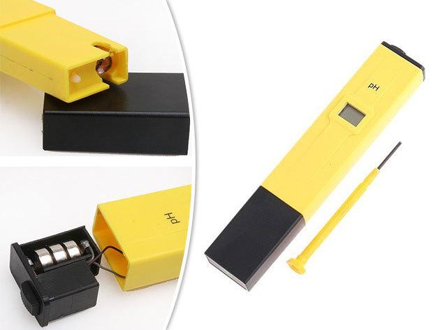 PH mérő műszer / digitális PH teszter - ideális akvárium, uszoda, iskolai laboratóriumi, stb... ph mérésére