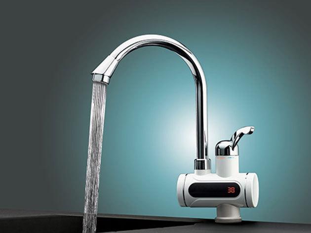Átfolyós vízmelegítő akár LCD kijelzővel a hőfok leolvasására - 5 másodperc alatt 60 fokos víz folyik a hidegvízes csapból