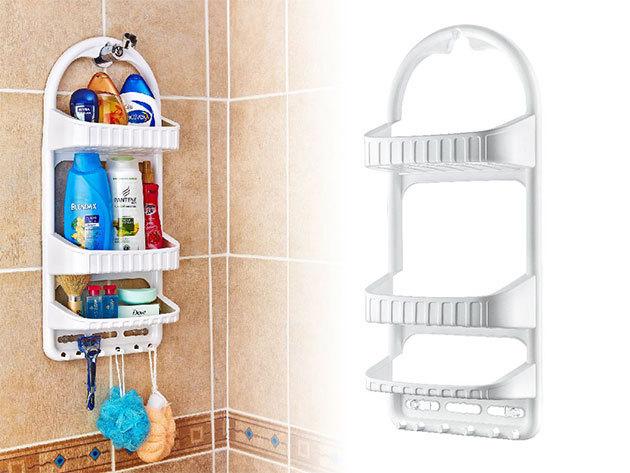 Zuhanypolc - praktikus tároló, mely könnyen felszerelhető, és nem szükséges a csempét átfúrni a rögzítéséhez