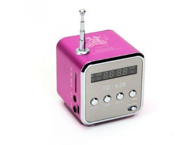 Mini HIFI MP3 lejátszóval, rádióval - rózsaszín