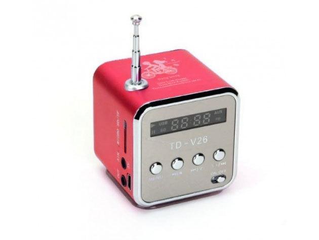 Mini HIFI MP3 lejátszóval, rádióval - piros