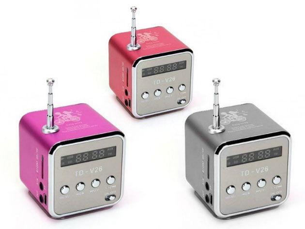 Mini HIFI MP3 lejátszóval, rádióval - jack csatlakozó segítségével hangszóróként is funkcionálhat