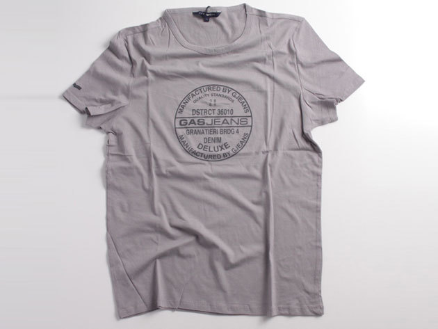 Gas Basic T-Shirt 86374 Grey L