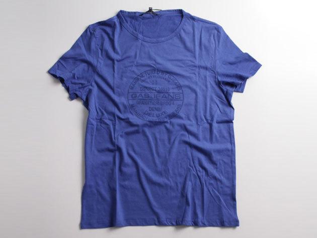 Gas Basic T-Shirt 86374 Blue L