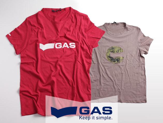 GAS Basic slim fit férfi pólók 100% pamutból, a minőség jegyében (XL-XXL) - alapdarabok a mindennapokra