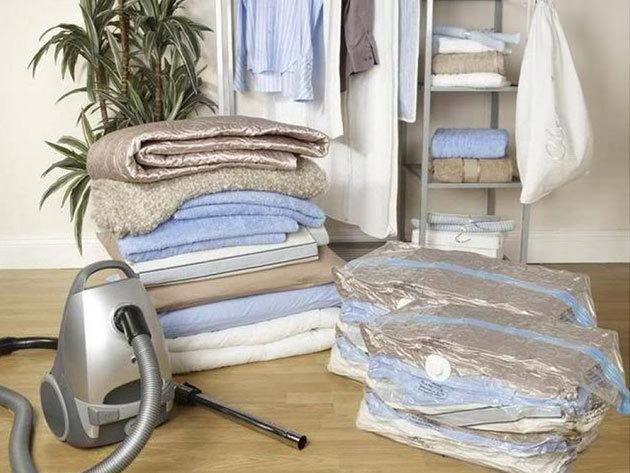 Vákuumos tárolózsákok 5 db, választható méretben - helytakarékos megoldás a szekrényedben, bőröndödben!