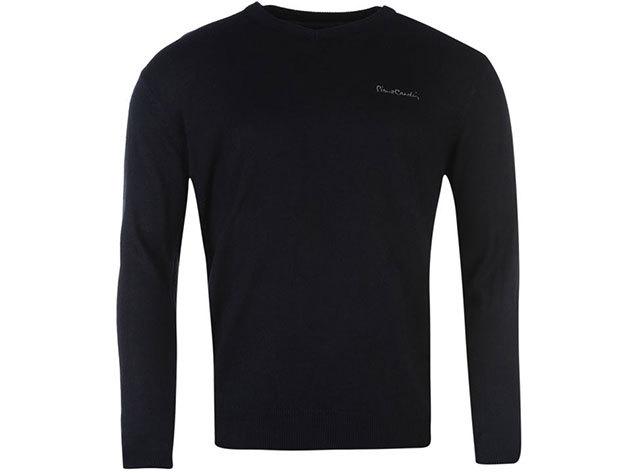 Pierre Cardin férfi V-nyakú vékony pulóver - Sötétkék - 55922422 - M
