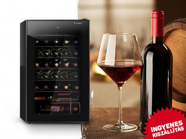 Inventor borhűtő 16 vagy 34 palack számára - UV szűrős üvegajtó, megfordítható ajtónyílás, elegáns, stílusos kivitelezés