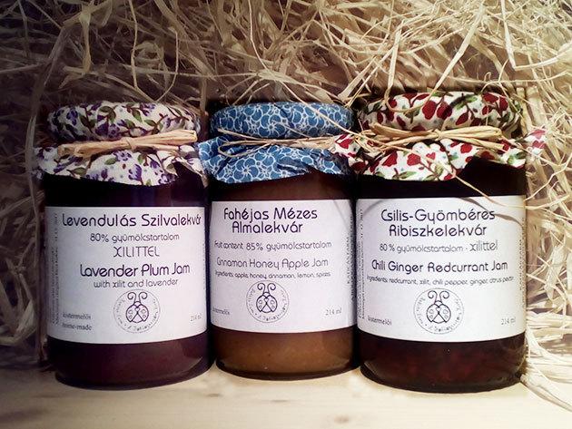 Kézműves lekvárok cukormentesen: fahéjas-mézes almalekvár, levendulás szilvalekvár, csilis-gyömbéres ribizlilekvár / magyar termelőtől