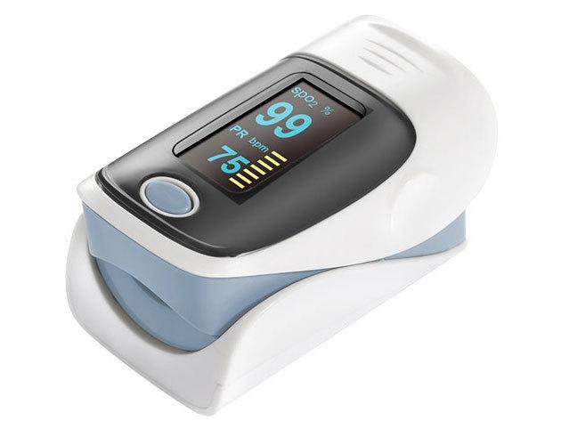 Pulzoximéter - Oxigénszaturáció, pulzusszám- és intenzitásmérő műszer / fájdalommentesen mérhető az erekben az oxigén szállítását végző vérfesték (hemoglobin) oxigéntelítettsége